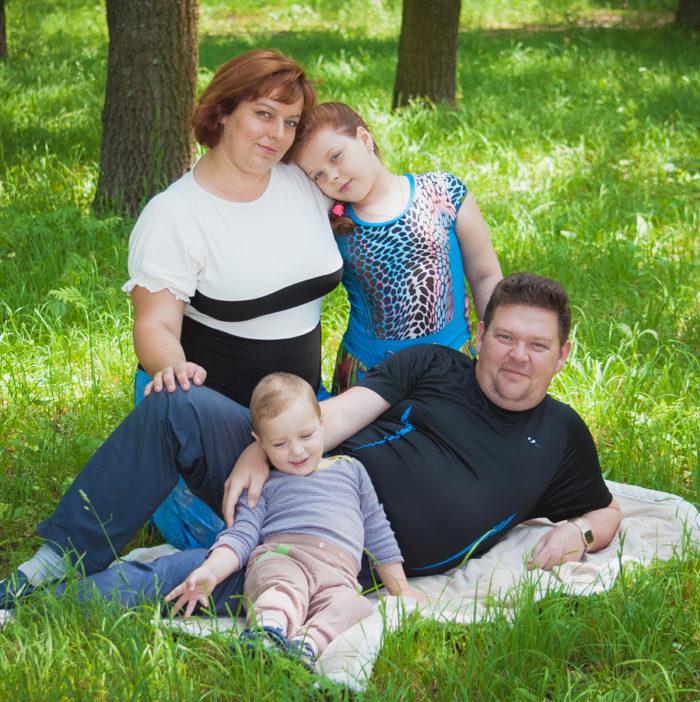 Татьяна Мостипака и семья1